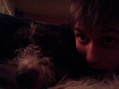 Koiran kanssa pöydän alla x) #dog #koira